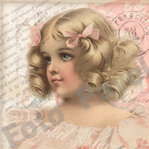 Vintage motiv - dívenka - portrét mladé slečny