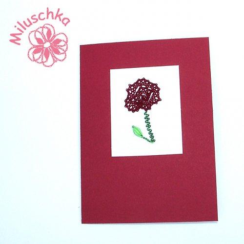 Přání červená růže