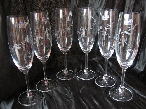 Gravírované sklenice na šampaňské/sekt