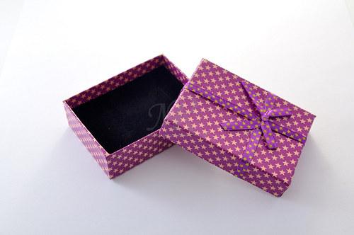 Dárkové krabičky - Fialová star - 8 kusů