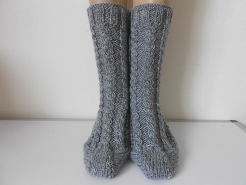Ručně pletené ponožky s merinem