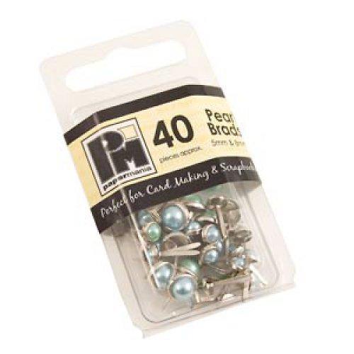 Perlové Hřebíčky  - Agua - 40 ks  5mm & 8mm