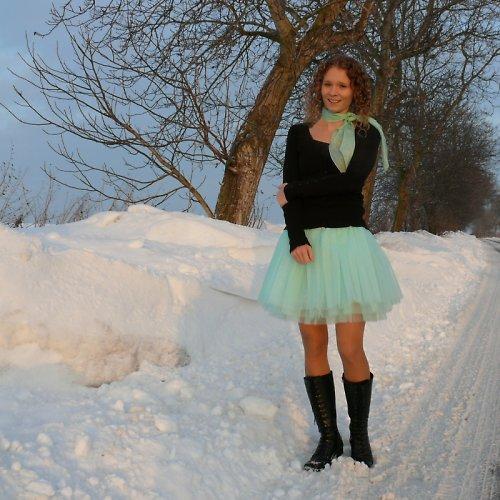 Zelená tylová sukně-SKLADEM