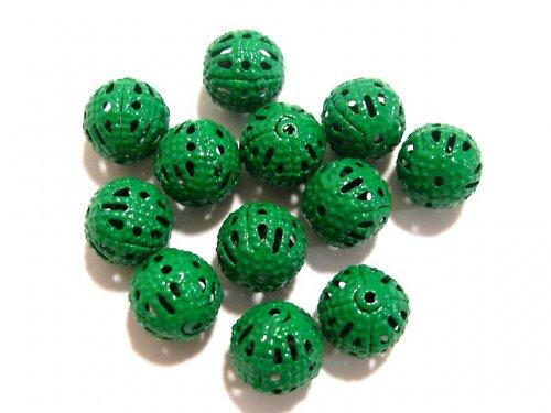 1603010/Filigránový korálek barvený,zelený, 3