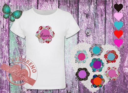Dívčí tričko s kytičkou