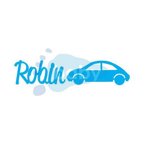 Razítko Robin a autíčko