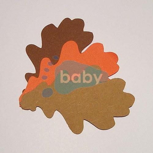 Výsek dubový list 5,5 x 3,5 cm
