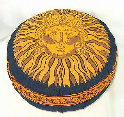 Taburetka modrá Slunce,špaldové slupky,10 cm