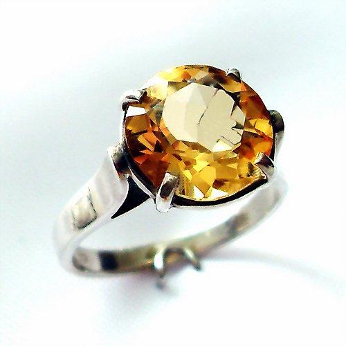 Prsten «Rosa» - stříbro 925, přírodní citrín