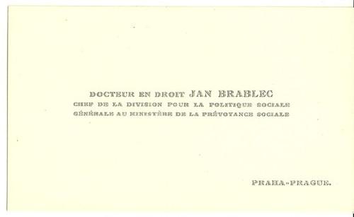Vizitka Dr. Jan Brabec Praha