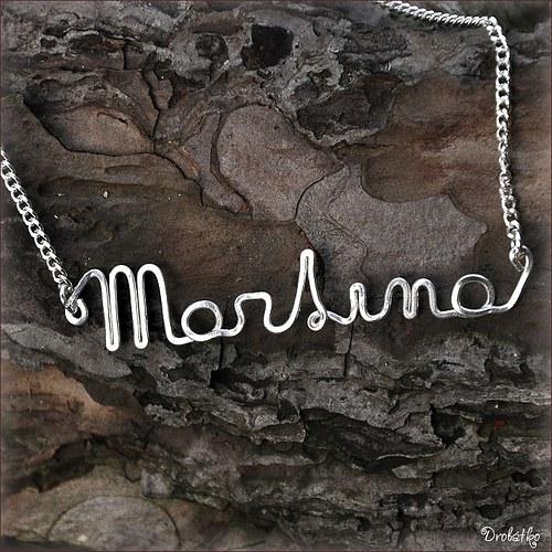 """Náhrdelník s menom / řetízek se jménem \""""Martina\"""""""