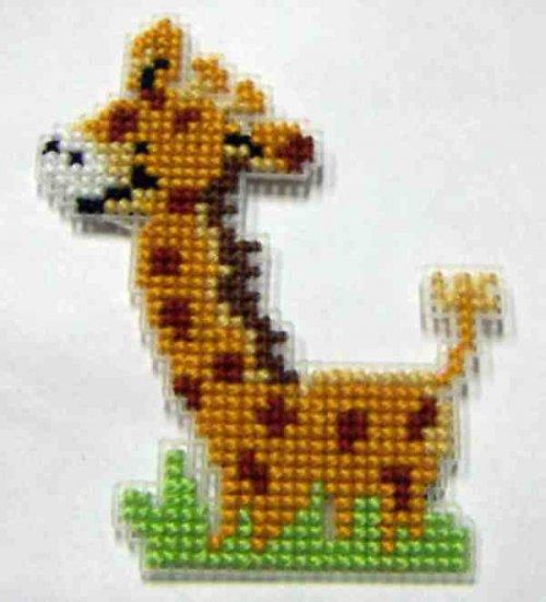 Vyšívaná magnetka - žirafa