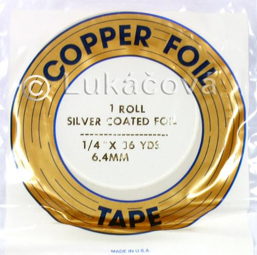 Měděná samolepící páska EDCO -tiffany, STŘÍBRO
