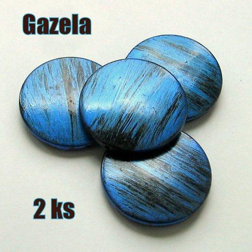Žíhaná velká modrá kolečka - 2 ks