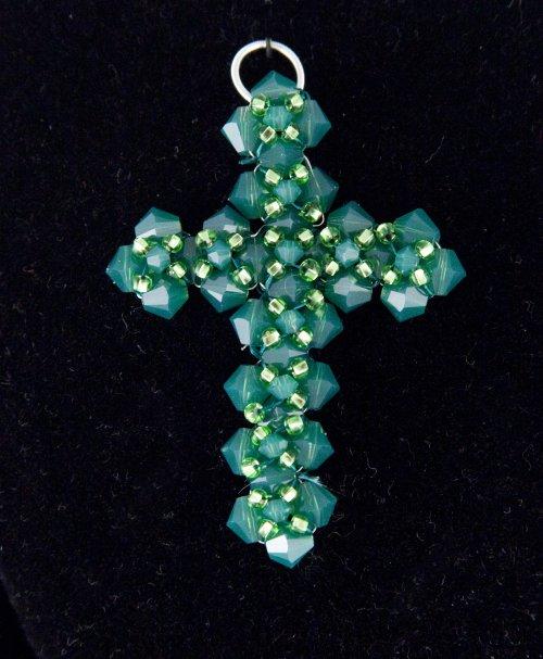 Přívěsek - zelený křížek