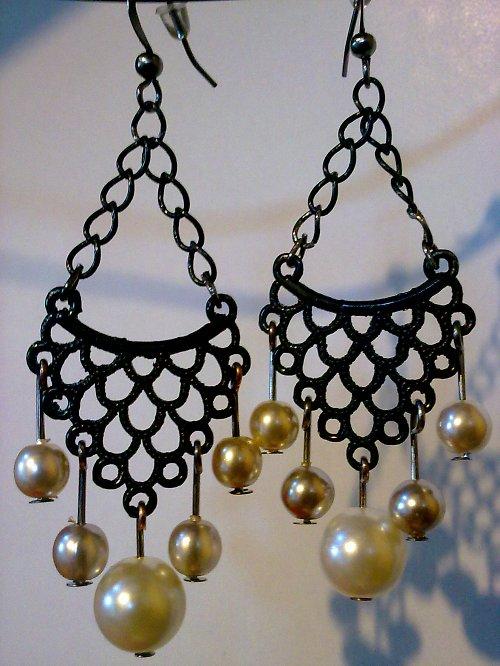 Náušnice z voskových perel