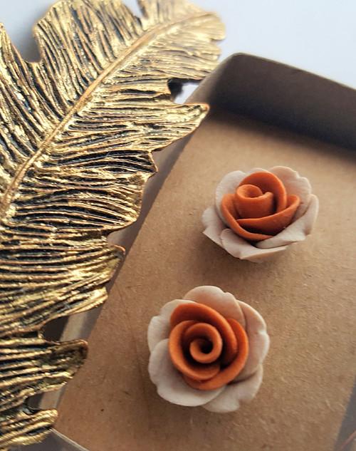 Mini růžičky béžovo okrové