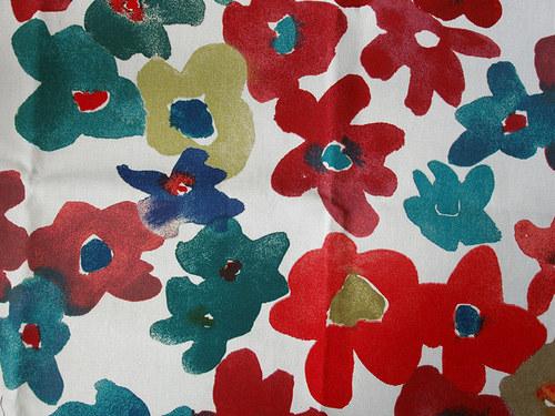 Látka...barevné květy