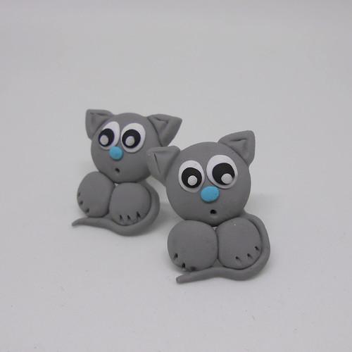 Šedé kočičky