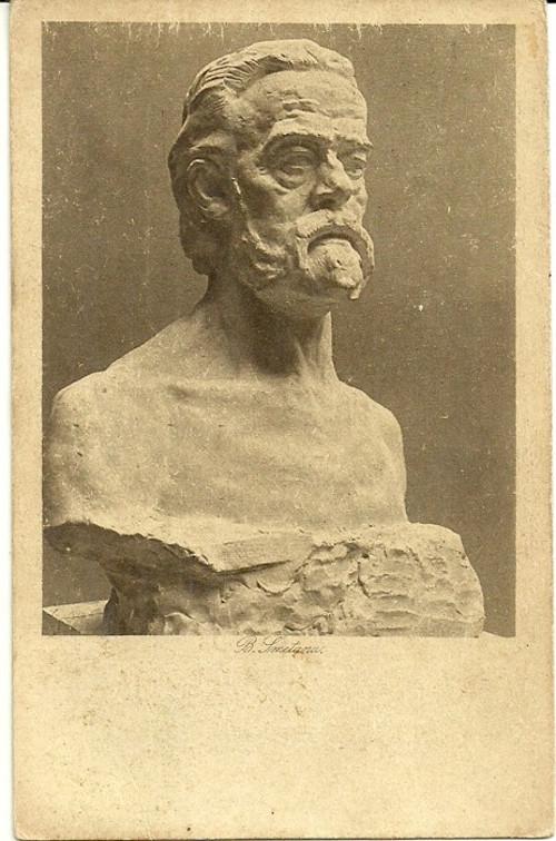 Umělecká pohlednice socha B.Smetana