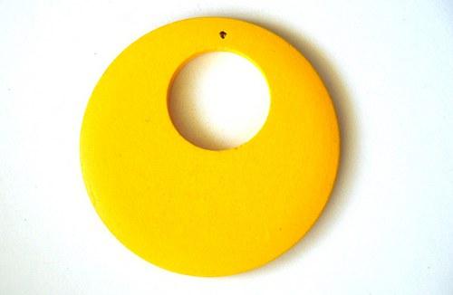 Dřevěné kolečko - žluté
