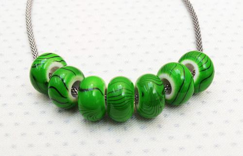 """Korálky - Vinutky \""""akryl zelené\"""" 2 ks"""
