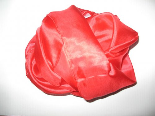 šátek 74x74 cm - hedvábí - červená barva
