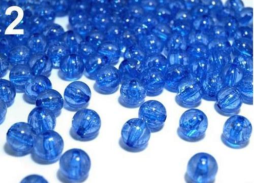 Praskané korálky plast kulička Ø10mm 10ks