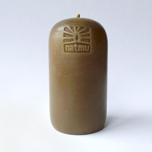 Masivní skořicová svíce ze včelího vosku
