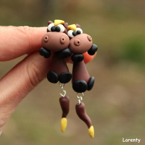Koníci pecičko - naušnice
