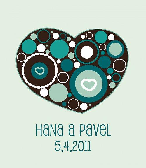 Svatební oznámení - Srdce