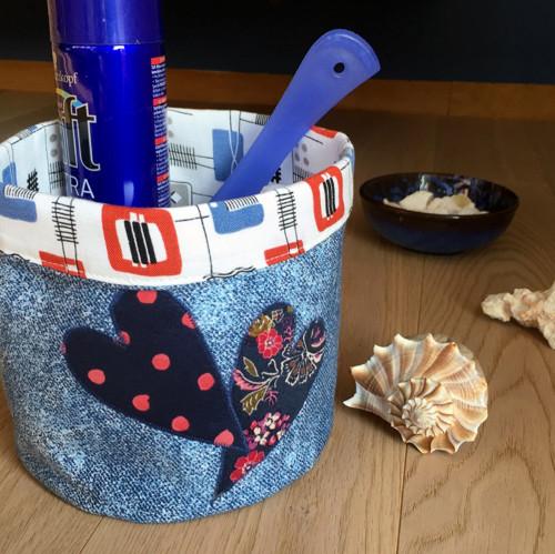 Textilní košík: Srdeční záležitost