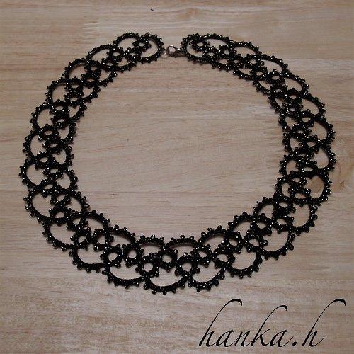 Slavnostní náhrdelník - frivolitková krajka