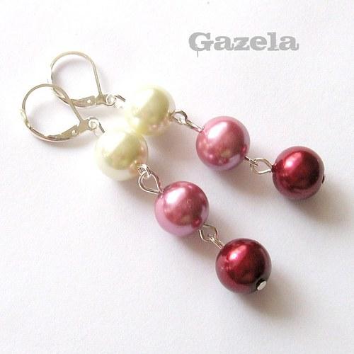 Náušnice Tři perly