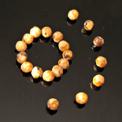 Broušené korálky 8 mm 6 ks TIGER EYE
