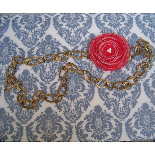 Bronzový náhrdelník s odepínací kytičkou