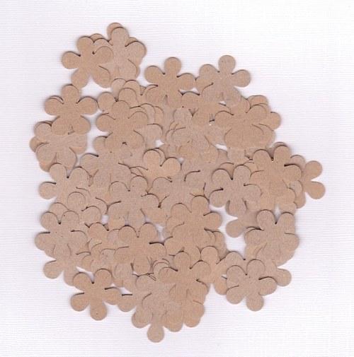 Retro kytka 2,5 cm - hnědé výseky (100 ks)