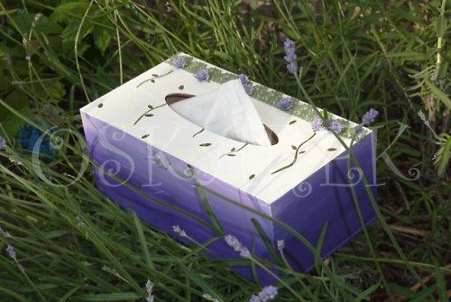Krabička na kapesníčky LEVANDULOVÁ