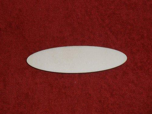 2D výřez-JMENOVKA OVÁL 10x2,8cm tl.0,4cm-VÝPRODEJ