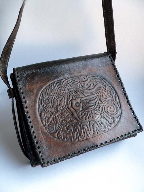 Kožená vintage kabelka 24