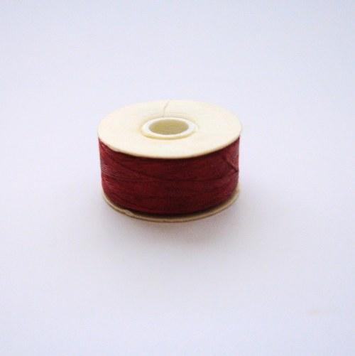Nymo nit 0,3 mm - červená - 1 ks
