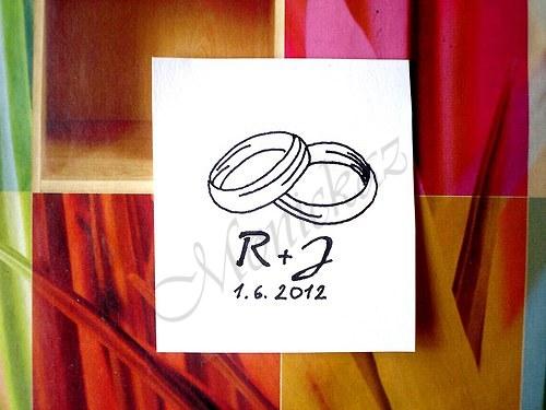Svatební č. 28... Omyvatelné razítko.