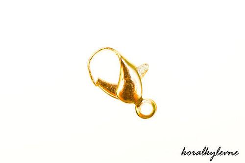 Karabinka zlatá 12mm 10ks!