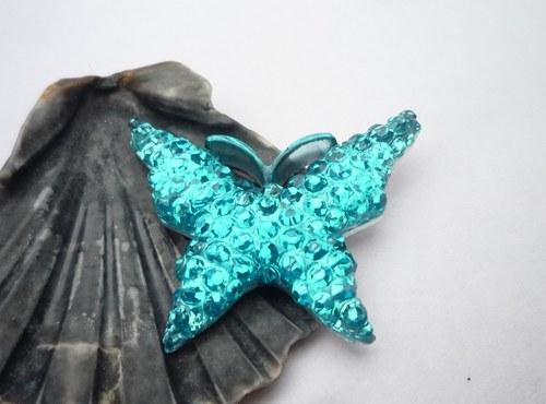 motýl  tyrkysový 2 ks