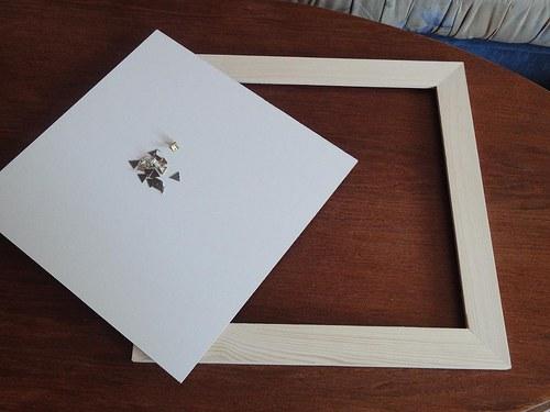 Dřevěný rámeček k dalšímu tvoření-ubrousek 24x24