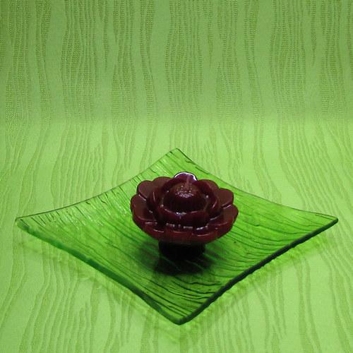 Svíčka plovoucí leknín červený - broskev