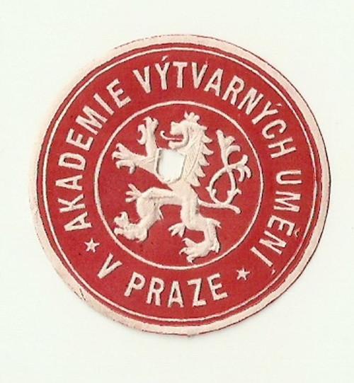 Zálepka Akademie výtvarných umění Praha