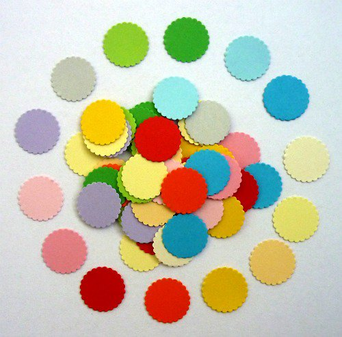 Kolečka vroubkovaná - výsek 15 ks barvu si vyberte