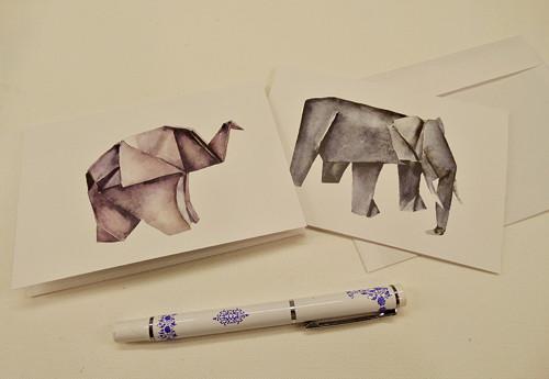 Slon. přání a obrázek 2v1