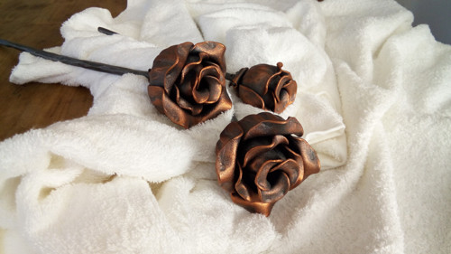 kovaná růže